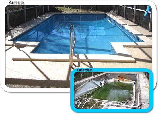 Swimming pools and deck remodeling in Tampa and Sarasota Florida.