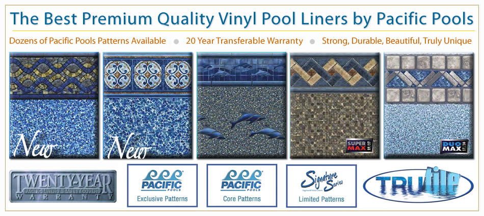 The best, cheap pacific pools vinyl liner replacement liners in Tampa FL.